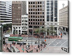 San Francisco Market Street - 5d17877 Acrylic Print by Wingsdomain Art and Photography