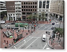 San Francisco Market Street - 5d17879 Acrylic Print by Wingsdomain Art and Photography