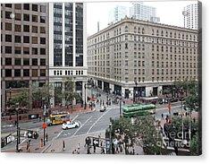 San Francisco Market Street - 5d17883 Acrylic Print by Wingsdomain Art and Photography