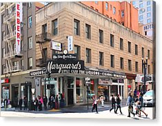 San Francisco Marquards Little Cigar Store On Powell Street - 5d17950 - Painterly Acrylic Print by Wingsdomain Art and Photography