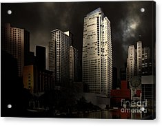 San Francisco Nights At The Yerba Buena Garden . 7d4262 Acrylic Print by Wingsdomain Art and Photography