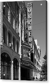 San Francisco Orpheum Theatre - 5d17997 - Black And White Acrylic Print by Wingsdomain Art and Photography