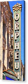 San Francisco Orpheum Theatre - 5d17997 - Painterly Acrylic Print by Wingsdomain Art and Photography