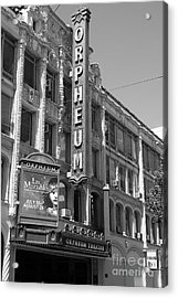 San Francisco Orpheum Theatre - 5d18007 - Black And White Acrylic Print by Wingsdomain Art and Photography