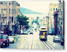 San Francisco Powell Street Cable Car Acrylic Print by Kim Fearheiley