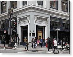 San Francisco Shreve And Company On Grant Street - 5d17920 Acrylic Print by Wingsdomain Art and Photography