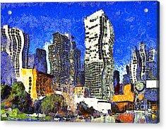 San Francisco Yerba Buena Garden Through The Eyes Of Van Gogh . 7d4262 Acrylic Print by Wingsdomain Art and Photography