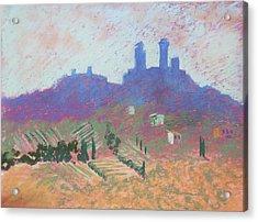 San Gimignano Acrylic Print by Janet Biondi