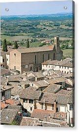 San Gimignano Acrylic Print by Rob Tilley