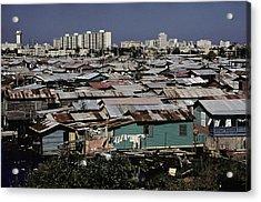 San Juan Puerto Rico. Modern Buildings Acrylic Print by Everett