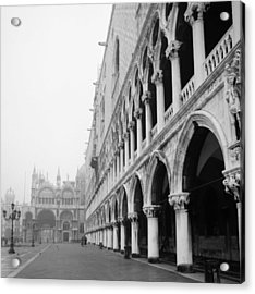 San Marco Square In Venice Acrylic Print by Emanuel Tanjala