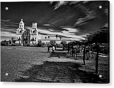 Acrylic Print featuring the photograph San Xavier Del Bac Mission by Tom Singleton