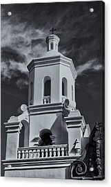 Acrylic Print featuring the photograph San Xavier Tower by Tom Singleton