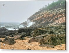 Sand Beach - Acadia Acrylic Print by Mary Hershberger