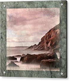Sand Beach In Texture Acrylic Print by Don Powers