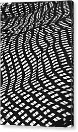 Sand Checkers Acrylic Print by Randall  Cogle