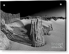Sand Fence Acrylic Print by Jim Dohms