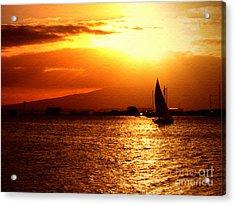 Sand Island Sunset 1 Acrylic Print