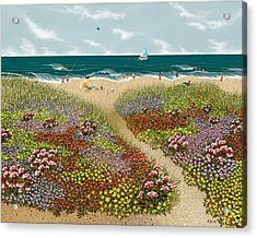 Sand Path Acrylic Print by Katherine Young-Beck