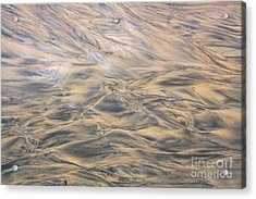 Acrylic Print featuring the photograph Sand Patterns by Nareeta Martin
