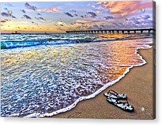 Sandals Acrylic Print by Debra and Dave Vanderlaan