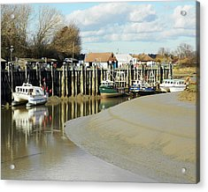Sandbanks And Boats Acrylic Print by Sharon Lisa Clarke