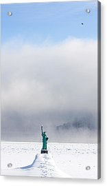 Sandpoint Liberty Acrylic Print by Marie-Dominique Verdier