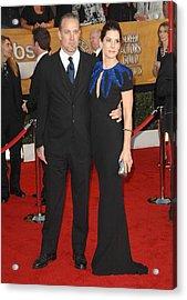 Sandra Bullock, Jesse James At Arrivals Acrylic Print by Everett