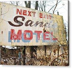 Sands Motel Acrylic Print by Todd Sherlock