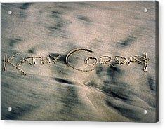 Sandscript Acrylic Print by Kathy Corday