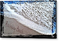 Sandwriting Acrylic Print