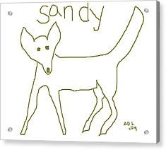 Sandy Acrylic Print by Anita Dale Livaditis