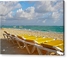 Acrylic Print featuring the photograph Sandy Beach  by Ann Murphy