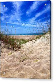 Sandy Dunes Acrylic Print by Joan Meyland