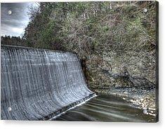 Sandy Hook Mill Dam Acrylic Print by David Clark