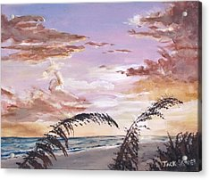 Sanibel Island Sunset Acrylic Print by Jack Skinner