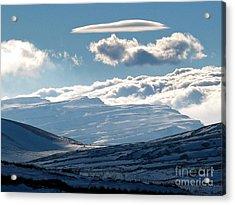 Sannir Mountains Acrylic Print by Issam Hajjar