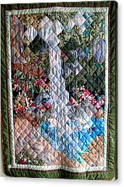 Santa Amelia Waterfall Quilt Acrylic Print by Sarah Hornsby