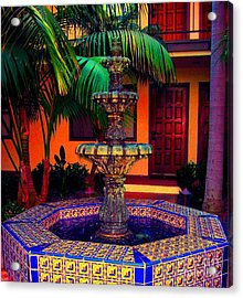 Santa Barbara Fountain Acrylic Print
