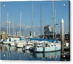 Santa Barbara Marina Acrylic Print by Linda Pope