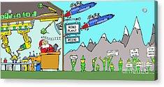 Santa Corp Acrylic Print