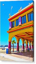 Santa Cruz Boardwalk - Arcade -01 Acrylic Print by Gregory Dyer