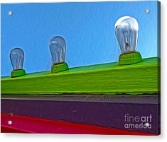 Santa Cruz Boardwalk - Carnival Lights Acrylic Print by Gregory Dyer