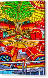 Santa Cruz Boardwalk - That Ride That Makes You Sick Acrylic Print by Gregory Dyer