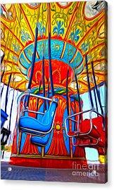 Santa Cruz Boardwalk - Tilt-a-whirl - 02 Acrylic Print by Gregory Dyer