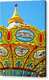 Santa Cruz Boardwalk - Tilt-a-whirl - 03 Acrylic Print by Gregory Dyer