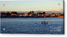 Santa Cruz Boardwalk  Acrylic Print by Garnett  Jaeger