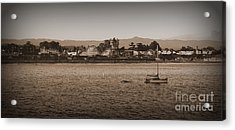 Santa Cruz Boardwalk Sepia Acrylic Print