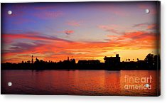 Santa Cruz Sunset 2 Acrylic Print