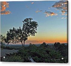 Santa Fe Sunset Acrylic Print by Cheri Randolph